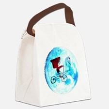 Fly Me to the Moon (white backgro Canvas Lunch Bag