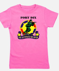 Fort Dix with Text Girl's Tee