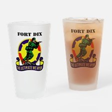 Fort Dix with Text Drinking Glass