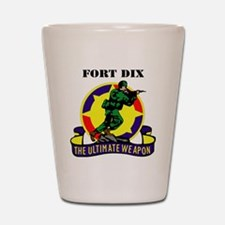 Fort Dix with Text Shot Glass