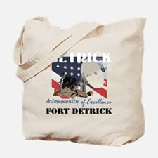 Fort Detrick with Text Tote Bag