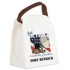 Fort Detrick with Text Canvas Lunch Bag