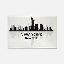 New York Skyline Rectangle Magnet