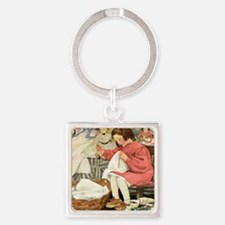 A Childs Book-Sewing_SQ Square Keychain