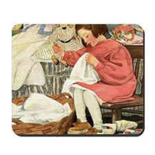 A Childs Book-Sewing_SQ Mousepad