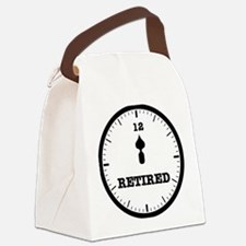 RETIRED CLOCK - NOON Canvas Lunch Bag