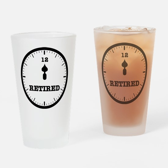 RETIRED CLOCK - NOON Drinking Glass