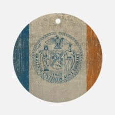 Vintage New York Round Ornament