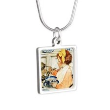 Breakfast Buddies_SQ Silver Square Necklace