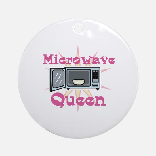 Microwave Queen Ornament (Round)