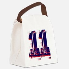 Yu Number 11 Blue Canvas Lunch Bag