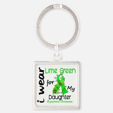 D Daughter Square Keychain