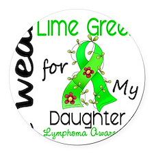 D Daughter Round Car Magnet