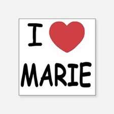 "I heart MARIE Square Sticker 3"" x 3"""