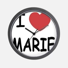 I heart MARIE Wall Clock
