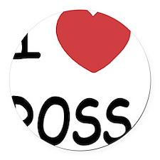 I heart ROSS Round Car Magnet