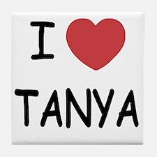 I heart TANYA Tile Coaster