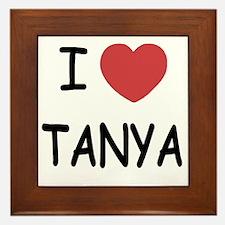 I heart TANYA Framed Tile
