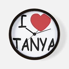 I heart TANYA Wall Clock
