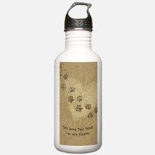 Paw Prints on our Hear Water Bottle