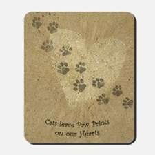 Paw Prints on our Hearts Mousepad