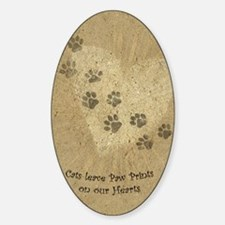 Paw Prints on our Hearts Decal