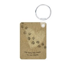 Paw Prints on our Hearts Keychains