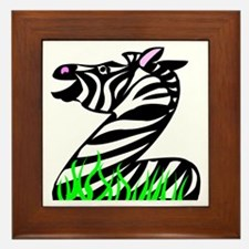 Z is for Zebra Framed Tile