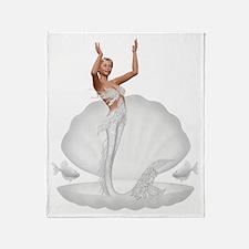 bride mermaid Throw Blanket