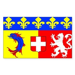 Rhone Alpes Rectangle Decal