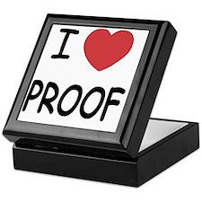 I heart proof Keepsake Box
