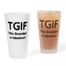 This Grandpa Is Fabulous Drinking Glass