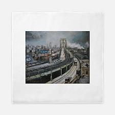 Vintage NYC Brooklyn Bridge Queen Duvet