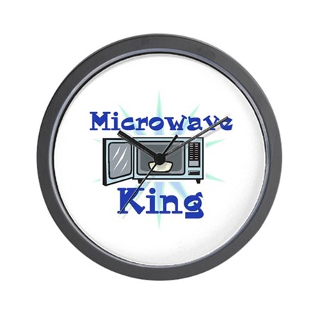 Microwave King Design Wall Clock