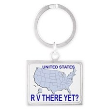 RV There Yet? US Landscape Keychain