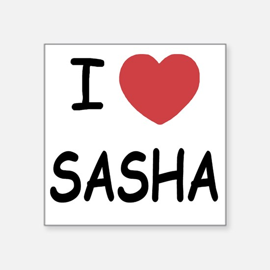 "I heart SASHA Square Sticker 3"" x 3"""