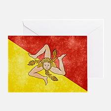 Sicily Flag Greeting Card