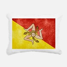 Sicily Flag Rectangular Canvas Pillow