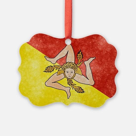 Sicily Flag Ornament