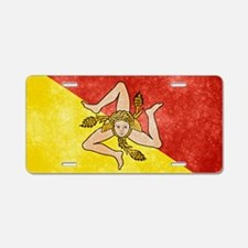 Sicily Flag Aluminum License Plate