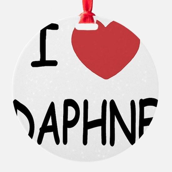 I heart DAPHNE Ornament