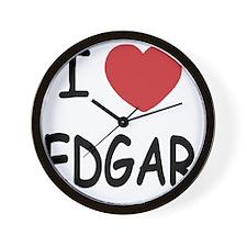 I heart EDGAR Wall Clock