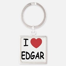 I heart EDGAR Square Keychain