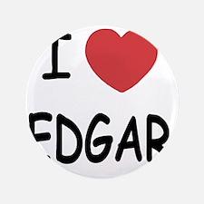 """I heart EDGAR 3.5"""" Button"""