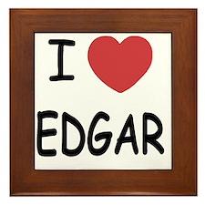 I heart EDGAR Framed Tile