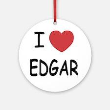 I heart EDGAR Round Ornament