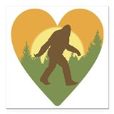 Bigfoot Square Car Magnets