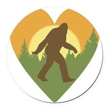 Bigfoot Love Round Car Magnet