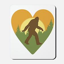 Bigfoot Love Mousepad