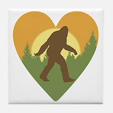 Bigfoot Love Tile Coaster